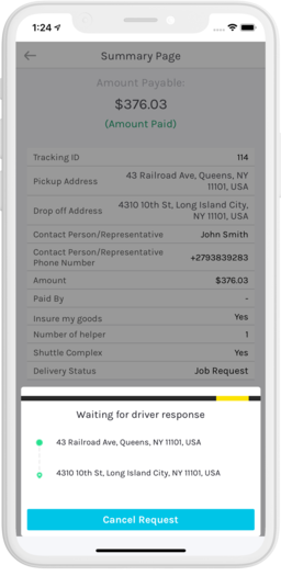 Logistics App - Uber Freight Clone