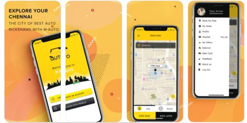 M Auto App screens1