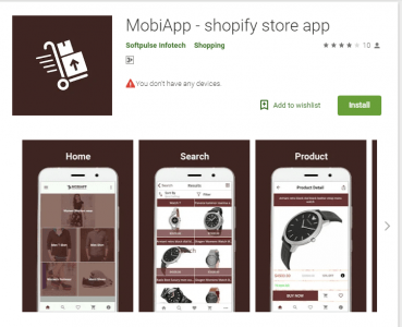 MobiApp - shopify store app