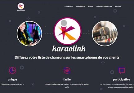karaolink landing page