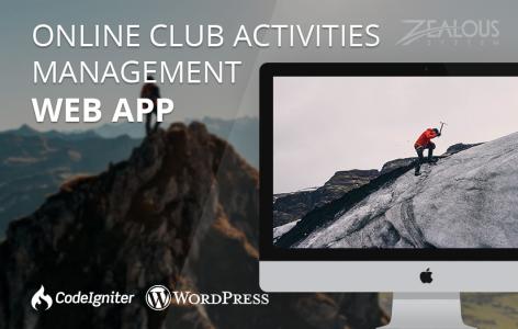 Online Club Activities Management Web Application