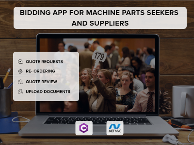 Bidding Web App for Machine Parts Seekers and Suppliers